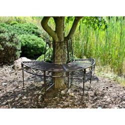 Garden Pleasure Metall Baumbank Narvi Gartenbank Sitzbank Parkbank Rost Optik