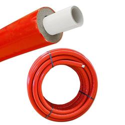 Iso - Mehrschichtverbundrohr 16 x 2 mm / rot - 10 mm Isolierstärke - Rolle 50 m - 50% EnEV
