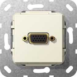 Gira 565301, VGA 15-p K-Peitsche Einsatz Cremeweiß