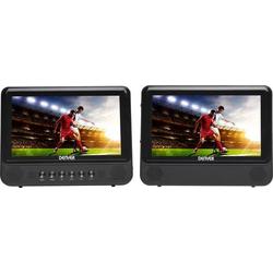 Denver MTW-757 Kopfstützen DVD-Player mit 2 Monitoren Bilddiagonale=17.78cm (7 Zoll)