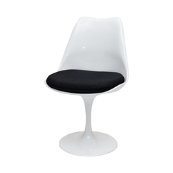 Krzesło Tul białe z czarną poduszką