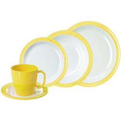WACA Kombiservice Bistro, (Set, 10 tlg.) gelb Geschirr-Sets Geschirr, Porzellan Tischaccessoires Haushaltswaren