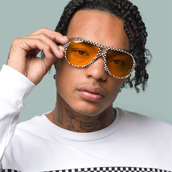 Sonnenbrille VANS - Seek Shades Black/White Check (HU0) Größe: OS