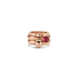 melano Ring-Set mit Zirkonia-Steinen rosa 52