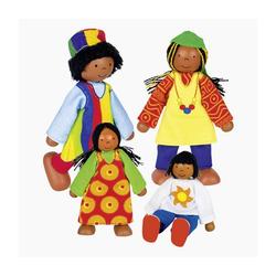 goki Biegepuppe Puppenfamilie Afrika