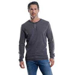 Lässiges Henley Shirt Engbers Zementgrau