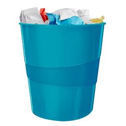 LEITZ WOW Duo Colour Papierkorb 15,0 l blau