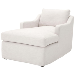 Casa Padrino Luxus Liegesessel / Schlafsessel Weiß 85 x 150 x H. 75 cm - Wohnzimmer Sessel