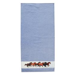 framsohn Handtuch 'Pferde' 50 x 100 cm Aqua - Blau
