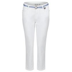 Rabe Hose im unifarbigen Design mit Gürtel weiß Damen Gerade Hosen lang