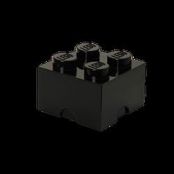 LEGO® Aufbewahrungsstein mit 4 Noppen in Schwarz