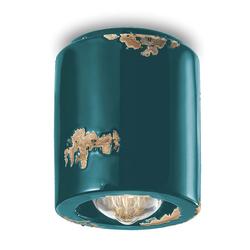 Ferroluce Deckenleuchte Vintage Keramik Ø 12,5cm