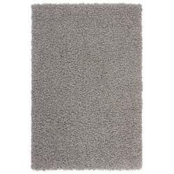 Günstiger Hochflorteppich - Funky (Grau; 40 x 60 cm)