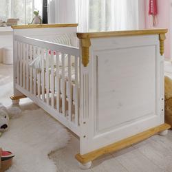Infanskids ROMANTIK Kinderbett höhenverstellbar mit Lattenrost, VERSANDKOSTENFREI