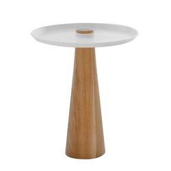 Beistelltisch W-Move Table Wagner weiß, Designer Joel Hoff, 50 cm