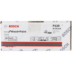 BOSCH Schleifaufsatz Schleifblatt C470, 50er-Pack, 120, Set, 50