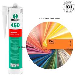 Ramsauer 450 Sanitär 1K Silicon Dichtstoff RAL 310ml Kartusche