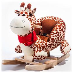 Merax Schaukeltier, Schaukel-Giraffe Plüsch Schaukel, braun braun 28.5 cm x 58 cm x 53 cm