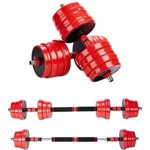 Melko Kurzhantel 20kg Langhantel Set 4in1 Hantelset verstellbar Hantel Hantelstangen Kurzhantelset Langhantel mit Gewichten
