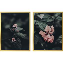 Poster »Rosa Blüten« (Set), Bilder, 27344542-0 bunt 30x40 cm bunt