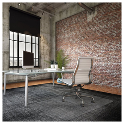 Kubus Bodenschutzmatte Teppich-Bodenschutzmatte Eco, Transparent, aus Recycling-PET 117 cm x 153 cm x 0.2 mm