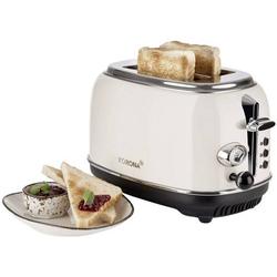 Korona Retro 21666 Toaster mit Brötchenaufsatz Creme