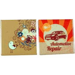 Guru-Shop Magnet 2er Set Kühlschrankmagnet - retro 2