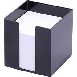 Zettelbox 9,5x9,5x9,5cm weißes Papier schwarz