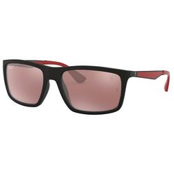 RAY BAN Sonnenbrille Ferrari RB4228M schwarz