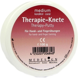 THERAPIEKNETE medium korallrot 100 g