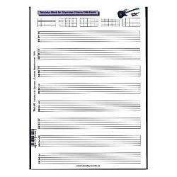 Tabulatur-Block für Gitarristen (Gitarre-TAB-Block) - Buch