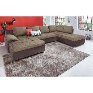 sit&more Wohnlandschaft Labene, XXL, wahlweise mit Bettfunktion und Bettkasten braun Wohnlandschaften Sofas Couches