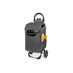 linovum Einkaufstrolley Einkaufstrolley HIMY XL in grau Einkaufswagen mit 78L Fassung & Seitentaschen