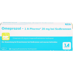 OMEPRAZOL-1A Pharma 20 mg bei Sodbrennen HKM 14 St.
