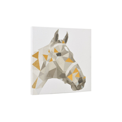 art.work Wandbild, Pferd, Druck auf Pergamentpapier 40x40 cm