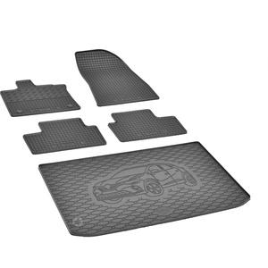 Passgenaue Kofferraumwanne und Gummifußmatten geeignet für Renault Captur ab 2020