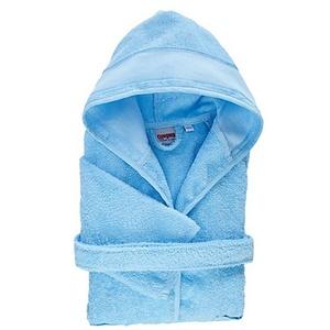 buttinette Kinder-Bademantel, Größe 134/140, blau