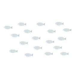 18 Holz Fische Streudeko Tischdeko Taufdeko Taufe Kommunion Konfirmation Firmung Deko - hellblau