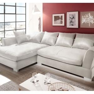 Couchgarnitur Weiss Sofa K-Leder Eck Sofa Wohnlandschaft Megasofa Links Design