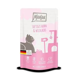 MjAMjAM - Quetschie saftiges Huhn und Wildlachs - Alleinfutter - Katze