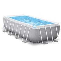 Intex Prism Frame Pool 26790GN 400x200x122cm, inkl. Filterpumpe und Sicherheitsleiter,