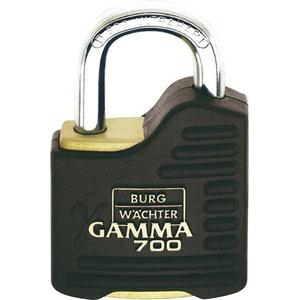 Burg Wächter Gamma 700 55 SB Vorhängeschloss gleichschließend Messing, Schwarz Profilzylinder-Vor