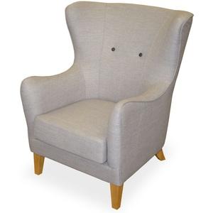KMH® Fernsehsessel Sessel TV-Sessel Polstersessel Ohrensessel Loungesessel grau