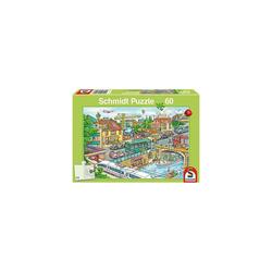 Schmidt Spiele Puzzle Puzzle, 60 Teile, 36x24 cm, Fahrzeuge und Verkehr, Puzzleteile