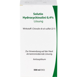 SOLUTIO HYDROXYCHIN. 0,4% 500 ml