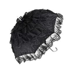 von Lilienfeld Stockregenschirm Hochzeitsschirm aus Spitze Melissa, Spitze schwarz