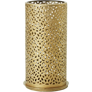 Duni Kerzenhalter Bliss gold, aus Metall für Teelichter oder LED 140x75mm 4er-Set