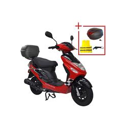 ALPHA MOTORS Motorroller Cityleader, 50 ccm, 45 km/h rot