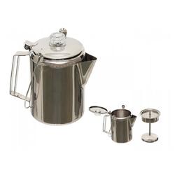 FoxOutdoor Kaffeekanne Kaffeekanne, mit Perkolator, Edelstahl, (9 Tassen), 1,5 l, mit Perkolator
