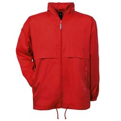 Damen und Herren Regenjacke mit Netzfutter   B&C Red L